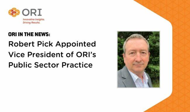Robert Pick Appointed ORI Vice President