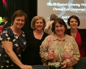 Lesley Boucher, Kathy Benson, Sue Lynd honored with 50 fastest-growing women-owned/led companies award