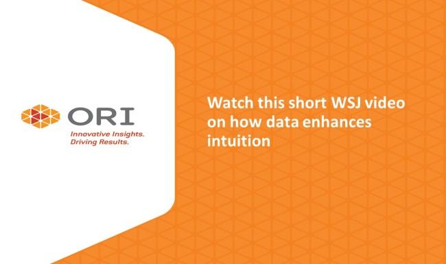 Washington Business Journal video on how data enhances intuition